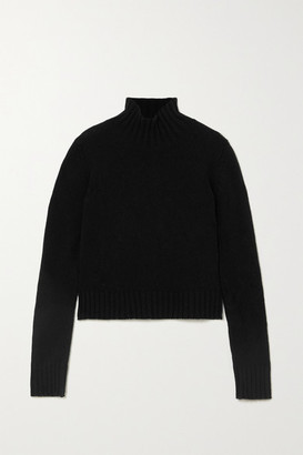&Daughter Net Sustain Audrey Wool Turtleneck Sweater - Black