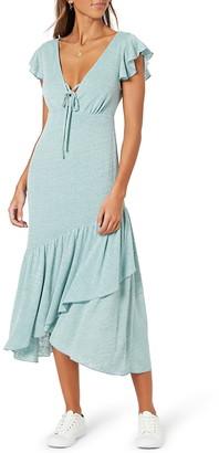 MinkPink Maria Ruffle Midi Dress