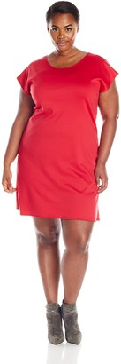 Star Vixen Women's Plus-Size Flutter Sleeve Sheath Dress