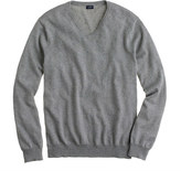 J.Crew Tall cotton-cashmere V-neck sweater