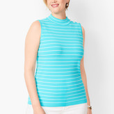 Talbots Sleeveless Ribbed Sweater - Stripe