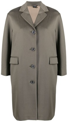 Aspesi Single-Breasted Wool Coat