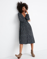Madewell Long-Sleeve Button-Front Dress in Baby's Breath