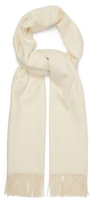 Johnstons of Elgin Johnston's Of Elgin - Fringed Cashmere Scarf - Womens - White