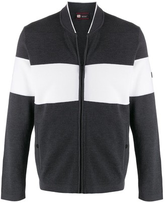 Ermenegildo Zegna Striped Zipped Cardigan