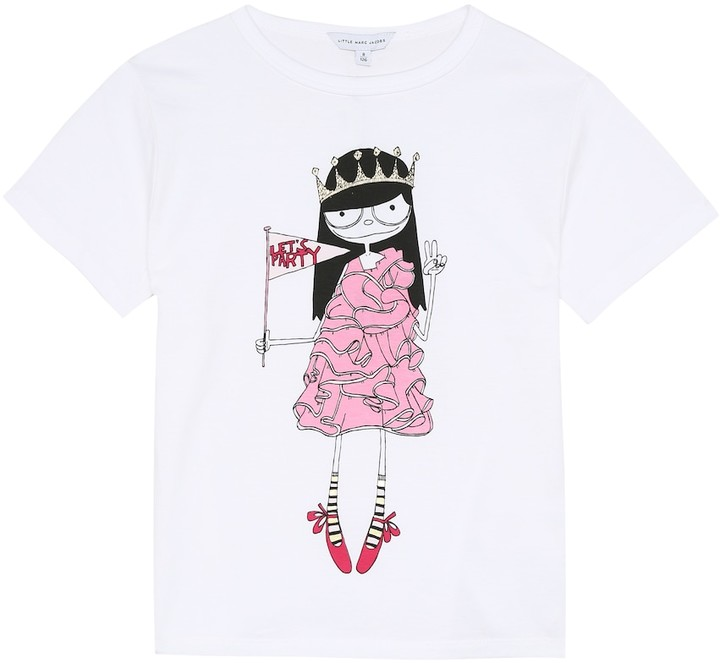 Little Marc Jacobs Miss Marc cotton T-shirt