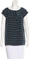 Moschino Silk Abstract Print Top