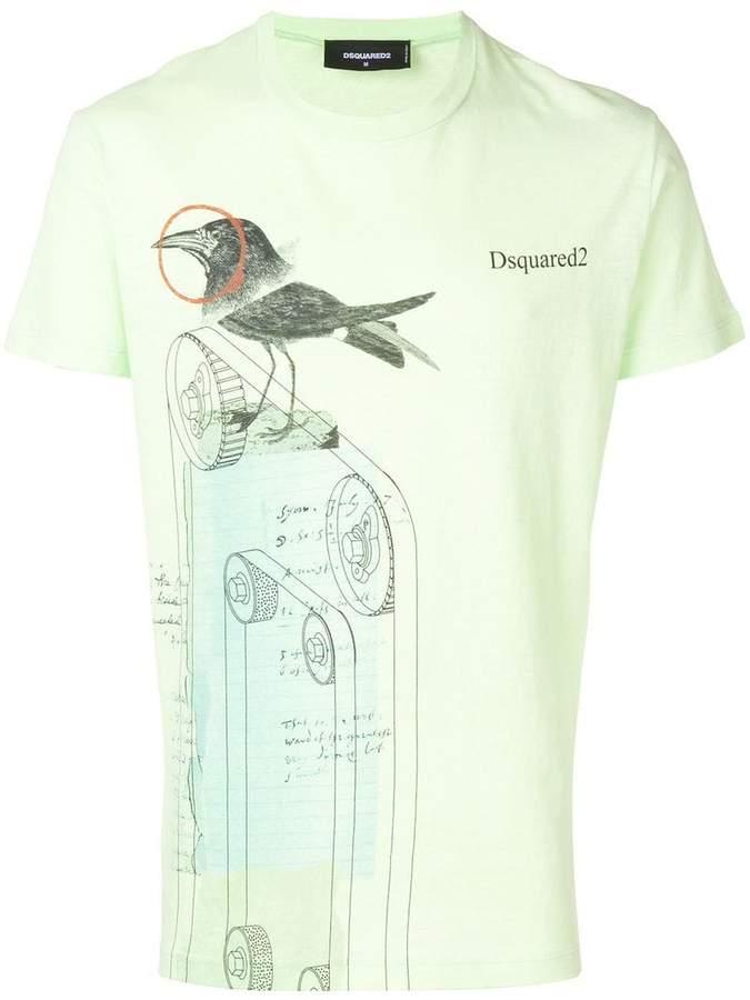 DSQUARED2 bird print T-shirt