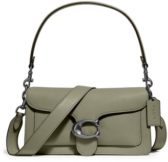 Coach Tabby 26 Green Leather Shoulder Bag