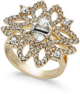 INC International Concepts I.N.C. Gold-Tone Crystal Statement Ring, Created for Macy's