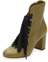 Chloé Lace-Up Leather Ankle Boot