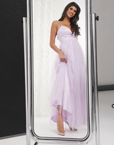 Bariano cami strap cross over full skirt maxi dress in lilac