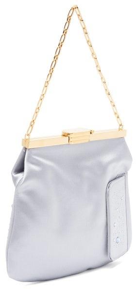 Thumbnail for your product : BIENEN-DAVIS 4am Crystal & Satin Clutch Bag - Light Blue