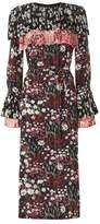 Mother of Pearl Anner Floral Pleated Dress