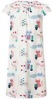 John Lewis Girls' Cat Short Sleeve Nightdress, Multi