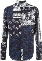 Versus multiple print shirt - men - Cotton/Spandex/Elastane - 48