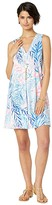 Lilly Pulitzer Amina Dress (Crew Blue Tint Kaleidoscope Coral) Women's Dress
