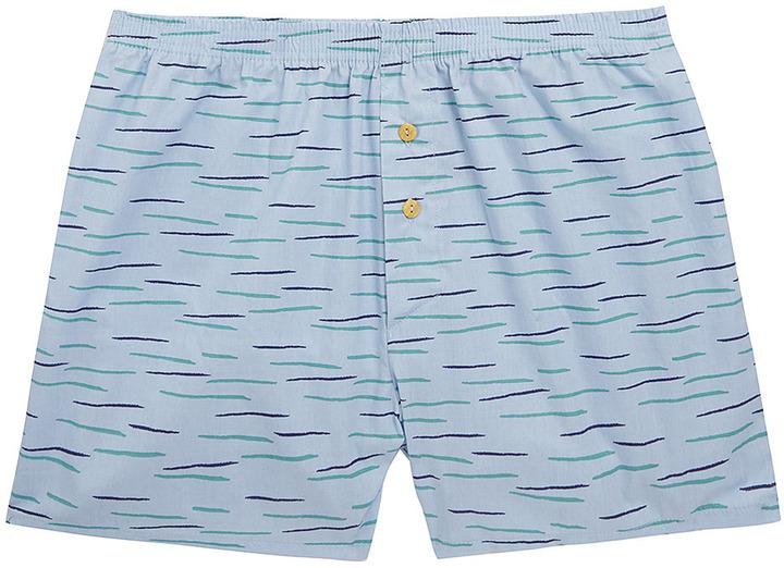 Topman Light Blue Dash Print Underwear