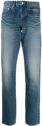 Saint Laurent Stonewashed-Effect Skinny-Fit Jeans
