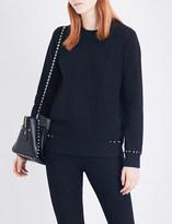 Valentino Stud-embellished cotton-jersey sweatshirt