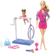 Mattel Barbie Gymnastics Coach Dolls & Playset