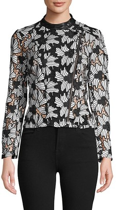 Yigal Azrouel Embroidered Floral Lace Top