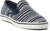 Ralph Lauren Janis Striped Canvas Sneaker