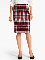 Talbots Merry Plaid Pencil Skirt