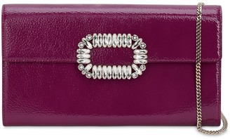 Roger Vivier Sexy Choc Crystals Patent Leather Clutch