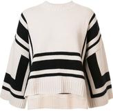 Derek Lam 10 Crosby geometric pattern knitted blouse