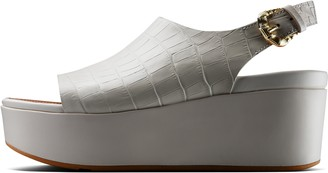 FitFlop Eloise Croc-Print Wedge Sandals
