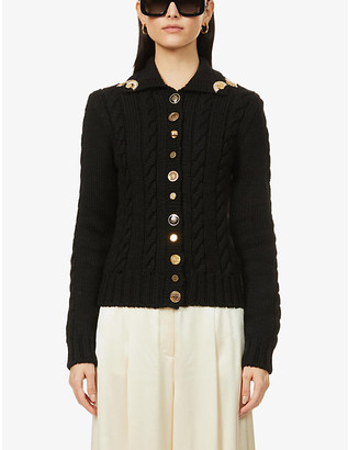 Loewe Button-embellished wool cardigan