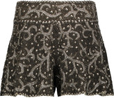 Haute Hippie Marisa beaded silk shorts