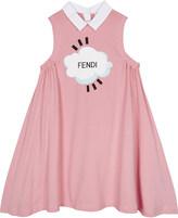 Fendi Cloud logo cotton A-line dress 4-14 years