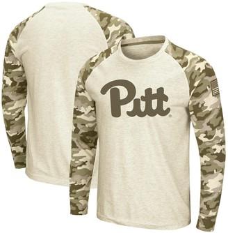 Colosseum Men's Oatmeal Pitt Panthers OHT Military Appreciation Desert Camo Raglan Long Sleeve T-Shirt