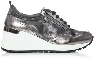 Moda In Pelle Bethina Pewter Leather