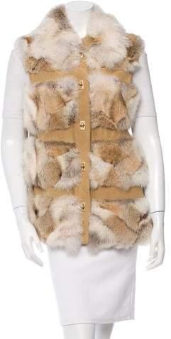 Michael Kors Coyote Fur Lodge Vest