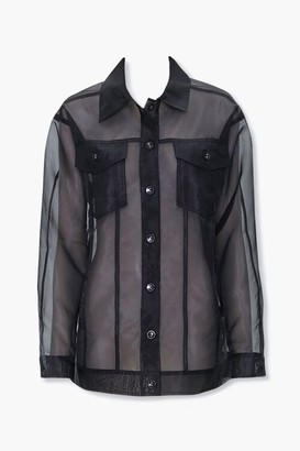 Forever 21 Sheer Organza Jacket