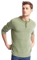 Gap Spacedye long sleeve henley