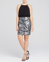 Laundry by Shelli Segal Sleeveless Blouson Bodice & Sequin Skirt Dress