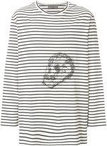 Yohji Yamamoto striped skull T-shirt - men - Cotton - 3