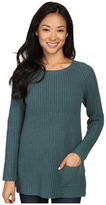 Lilla P Cotton Cashmere Pocket Tunic Women's Blouse