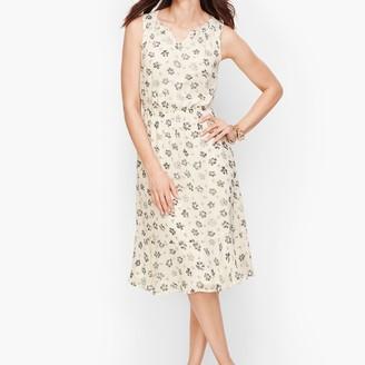 Talbots Floral Fit & Flare Dress