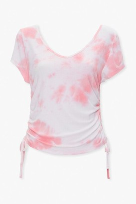 Forever 21 Ruched Tie-Dye Tee