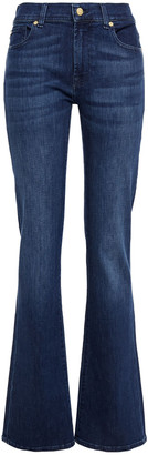 7 For All Mankind Faded Mid-rise Bootcut Jeans