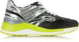 Hogan Rebel Maxi Running Multicolor Leather and Suede Sneaker