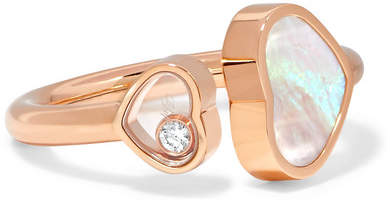 Chopard Happy Hearts 18-karat Rose Gold, Diamond And Mother-of-pearl Ring