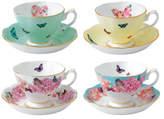 Royal Albert Miranda Kerr for Set of 4 Teacups & Saucers