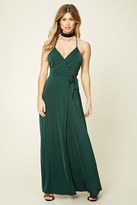 Forever 21 FOREVER 21+ Surplice-Front Maxi Dress