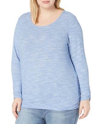 Amy Byer Women's Plus Size Cinched Long Sleeve Top